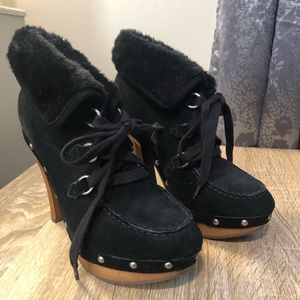Guess High Heel Booties w/ Fur